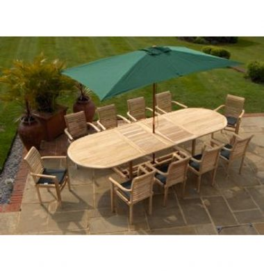 Miami or Oregon Stacking Chair 10 Chair 3.0 mtr Oval Ext Set Complete