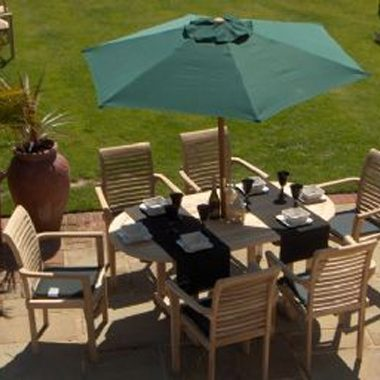 Miami Stacking Chair 6 Chair x 1.7 mtr Oval Extension Set Complete