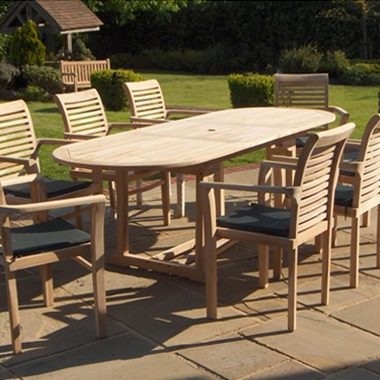 Oregon Stacking Chair 2.4 mtr Oval Extension Complete Set