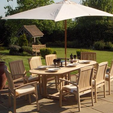 Miami Stacking Chair 2.4 mtr Oval Extension Complete Set