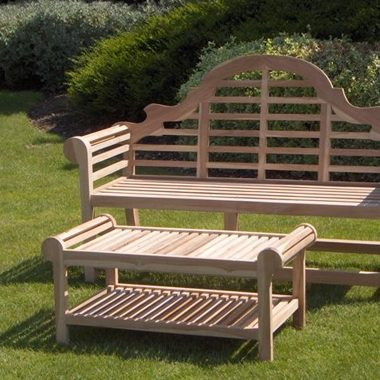 Solid Teak Classic Luytens Bench Set