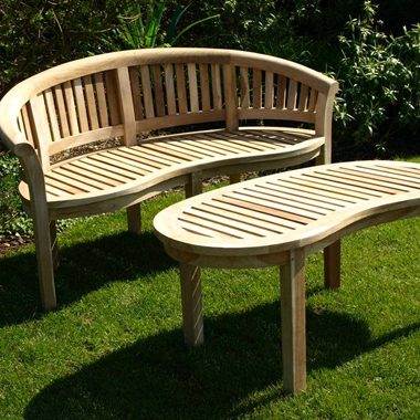Solid Teak Balmoral Curved Deluxe Bench Set