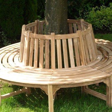 2.0m Solid Teak Tree Bench